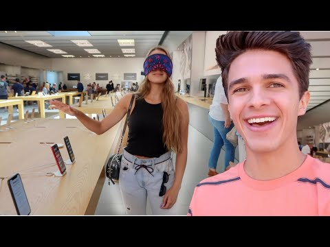 Buying EVERYTHING My Sister Touches Blindfolded Brent Rivera