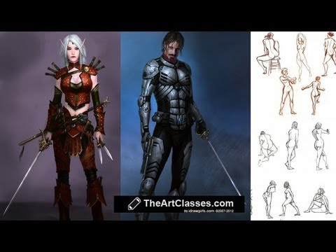 Drawing male and female body tips and technique