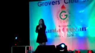 Mackie Cao sings