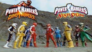 Power Rangers Dino Thunder/Ninja Storm Team Up - Alternate Opening   Thunder Storm