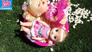 BABY ALIVE Bella and Skye sneak out of bed and play Truth or Dare!