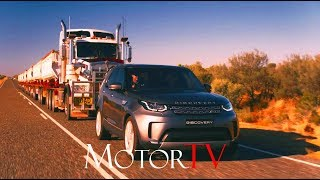 2017 LAND ROVER DISCOVERY TOWS 100 METRES AND 110 TONNE ROAD TRAIN (ENG)