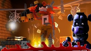 Minecraft F.N.A.F NIGHTMARE!! - FOXY ATTACKS DONUT IN HIS HOUSE - Donut the Dog Minecraft Roleplay