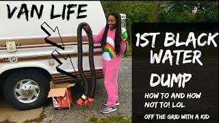 Vanlife//1st Black Water Dump Experience