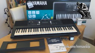 Yamaha PSR-E343 keyboard unboxing and short demo