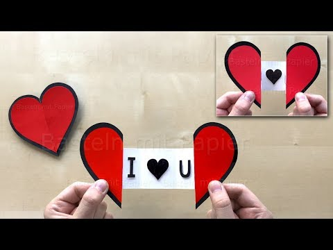 How to make an easy paper Heart with a Message using Origami paper ❤ DIY Greeting Cards