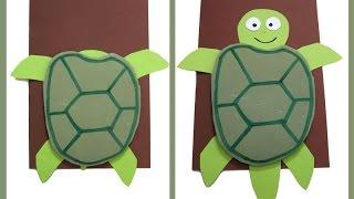 DIY Sea Turtle Card/ Skildpadde Kort