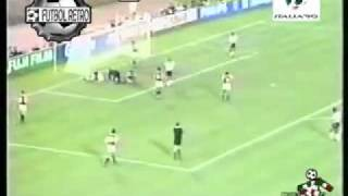 Inglaterra 1 vs Egipto 0 Italia 90 Wright, Lineker, Gascoinge FUTBOL RETRO TV