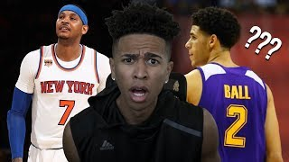 Lonzo Ball Better Than CARMELO ANTHONY! WHAT? ESPN TOP 75 Players