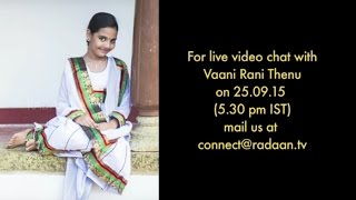 Live Chat With Your Vani Rani Favourite Stars | Thenu (Neha) | Live on 25.09.2015