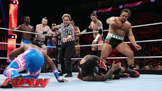 Reigns, Ambrose & The Usos vs. Sheamus, Barrett, Rusev, Del Rio & New Day: Raw, Nov. 30, 2015