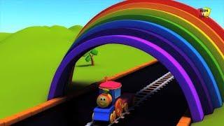 Bob, chuyến tàu | bob tàu đi xe màu | học màu sắc với bob