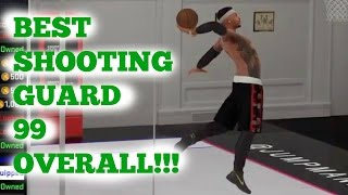 BEST SHOOTING GUARD BUILD!! 99 OVERALL!  NBA 2k16 my park [Signature Styles & Animations]