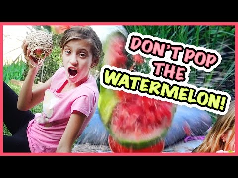YouTube CHALLENGE GAUNTLET!! DON'T LET THE WATERMELON POP! SMELLY BELLY TV