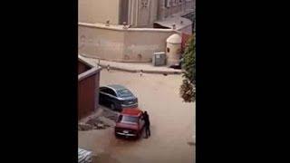 لحظة هجوم الارهابي وإطلاق النار على كنيسة مارمينا بحلوان