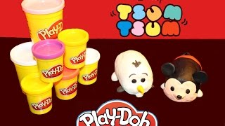 PLAY DOH | unboxing | Tsum Tsum collection fan | Disney Olaf & Mickey Mouse | Surprise review