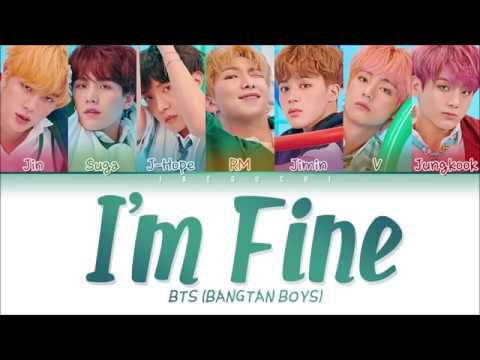 BTS (방탄소년단) - I'm Fine (Color Coded Lyrics EngRomHan가사)