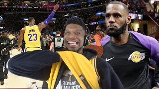 LEBRON GETS NOTHING BUT LOVE IN CLEVELAND RETURN! LAKERS vs CAVS HIGHLIGHTS