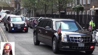 President Barack Obama Motorcade in London 2016