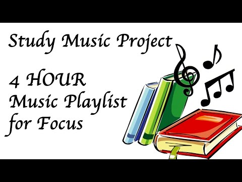 4 Hour Study Music to Help Focus Concentration Work and Relaxation