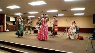 Rosemary And Anita Hula To Puamana Performed By Pat Enos At The South Coast Plumeria Society