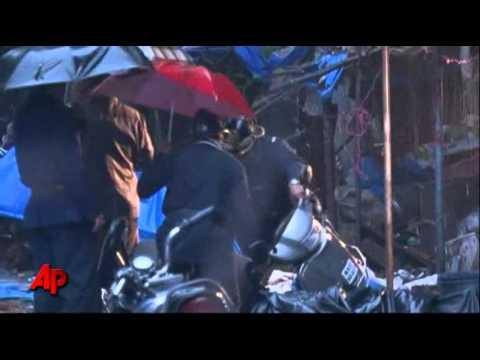 Raw Video: Police Search India Blast Scene