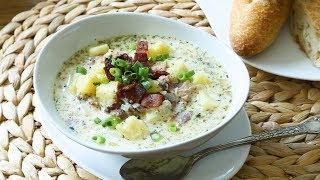 Easiest ever potato bacon soup