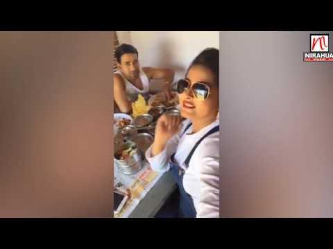 Xxx Mp4 Dinesh Lal Yadav Nirahua Aamrapali Anjana Singh Live From Set Of Holi Shoot 3gp Sex