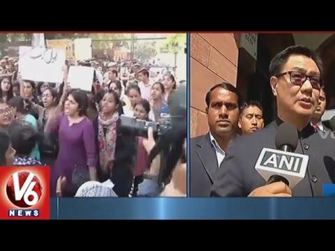 Political Leaders Reaction After Gurmehar Kaur s Peace Rally V6 News