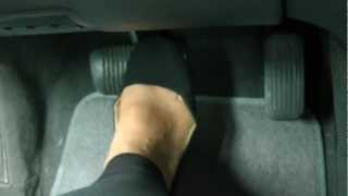 pedal pumping with black ballet flats