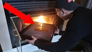 1000 DEGREE FIRE VS YOUTUBE GOLD PLAY BUTTON!!
