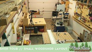 Shop Tour // Small WoodShop Layout