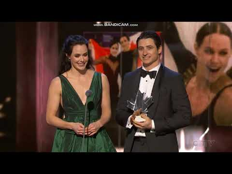 Tessa Virtue and Scott Moir at Canada s Walk of Fame Montage and Speech