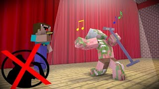 Monster School : FAIIL SINGING CHALLENGE   Minecraft Animations