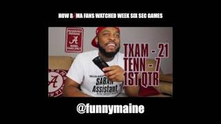 How Bama Fans Watched The Week Six SEC Games (2016)
