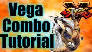 Vega Combos Tutorial | Street Fighter 5 (SFV)