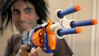 NERF WAR: FIDGET SPINNER GUN!