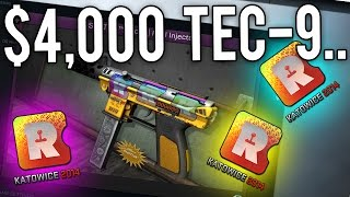 $4000+ TEC-9 Craft! +$200,000+ INSANE Skins Collection Showcase!