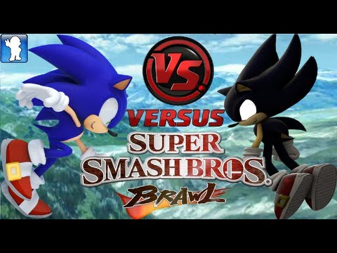 Super Smash Bros. Brawl Sonic vs Dark Sonic Dolphin Emulator