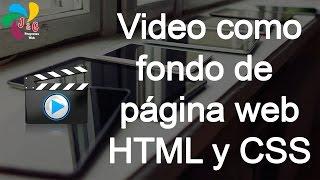 Colocar video como fondo de página web con HTML y CSS
