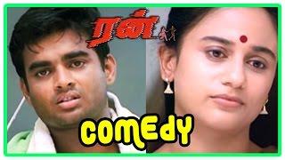 Run   Run Tamil Movie Comedy scenes   Run Movie   Anu Hasan & Madhavan cute Comedy scenes   Run film