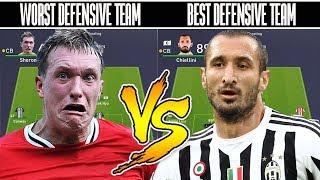 Worst Defensive Team VS Best Defensive Team - FIFA 18 EXPERIMENT!