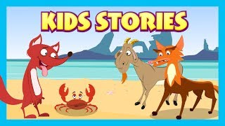 KIDS STORIES - The Fox and The Crab Full Stories || Animated Stories For Kids - Tia and Tofu Stories