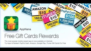 AppNana - get gift cards FREE (steam,google,itunes,xbox,paypal,playstationstore,LOL,facebook)