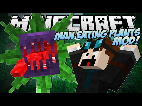 Minecraft MAN EATING PLANTS MOD Mowzies Mobs Mod Showcase