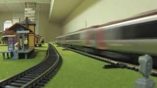High Speed Model Trains Video! with Eurostar Acela TGV ICE TurboTrain Javelin Pendolino Voyager CRH