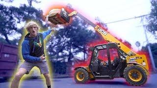 100-FOOT GIANT PUMPKIN DROP! **Explosion**