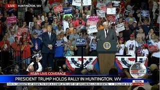 West Virginia Governor SWITCHES from Democrat to Republican at Trump Rally 8/3/17