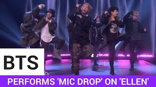 BTS Performs 'Mic Drop' On 'Ellen'