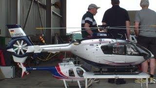 Flight Video Giant Eurocopter EC 135 scale Turbine rc Helicopter Swiss Heli Challenge 2013